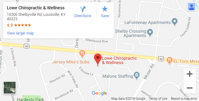 Louisville KY Chiropractic Map