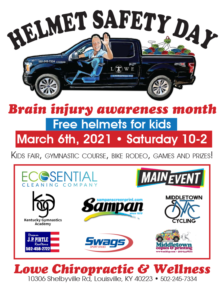 Helmet Safety Day at Lowe Chiropractic & Wellness in Louisville KY