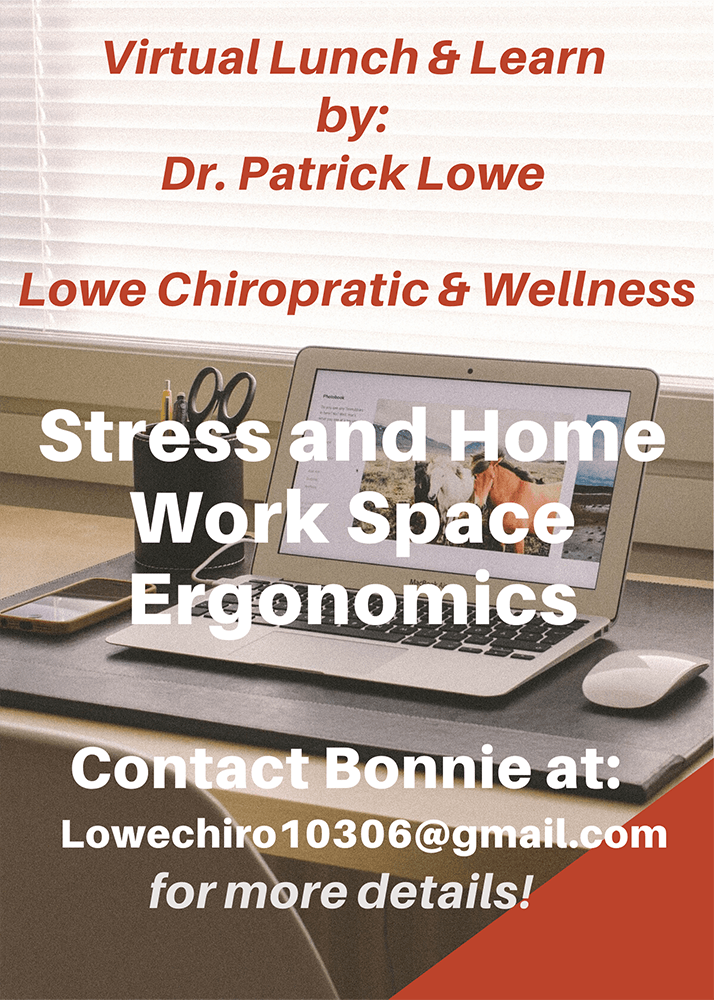 Virtual Lunch and learn with Louisville KY Chiropractor stress